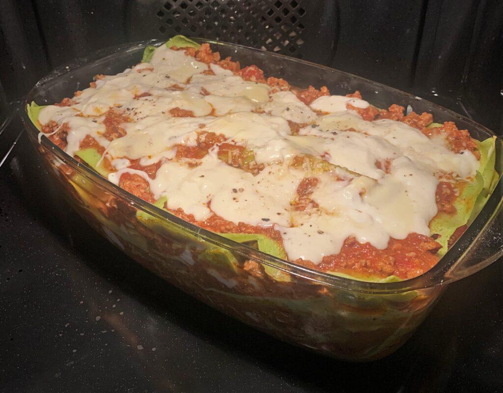 Szpinakowa Lasagne z własnoręcznie robionym makaronem